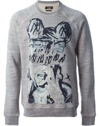Marc Jacobs Gray Printed Sweatshirt - Lyst