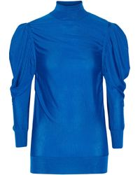 Vionnet Ruched Cashmere Turtleneck Sweater - Lyst
