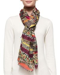 Etro Multicolor Multiprint Stole - Lyst