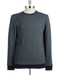 Calvin Klein Striped Crew Neck Sweatshirt - Lyst