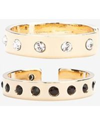 Maria Francesca Pepe - Exclusive Mixed Crystal Double Ring Set - Lyst