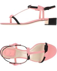 Dior - Two-Toned Jacquard Sandals - Lyst