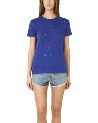 Iro Clay Holey Tee - Lyst