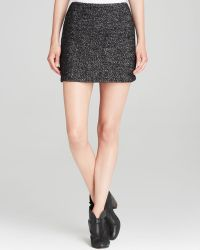 Alice + Olivia Alice Olivia Skirt Clean Fitted Tweed - Lyst