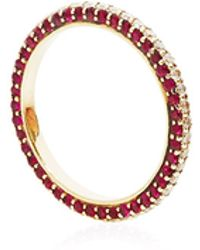 Alison Lou Ultimate Wedding Band in Ruby - Lyst