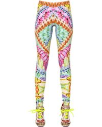Manish Arora Printed Stretch Jersey Leggings - Lyst