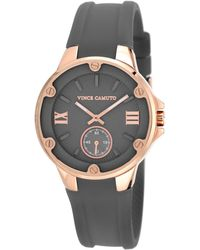 Vince Camuto Womens Gray Silicone Strap Watch 38mm Vc - Lyst