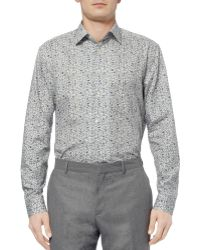Paul Smith Cream Flower Print Cotton Shirt - Lyst