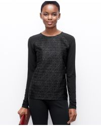 Ann Taylor Lace Front Top - Lyst