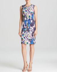 Cynthia Rowley Dress - Bonded Feather Print Sheath - Lyst