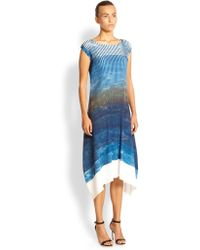 Issey Miyake Landscape Dim Pleats Long Dress - Lyst