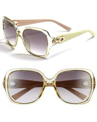 Dior Women'S Christian 57Mm Sunglasses - Yellow Pastel - Lyst