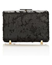 Alexander Wang Chastity Minaudiere Clutch in Wet Black with Pale Gold - Lyst