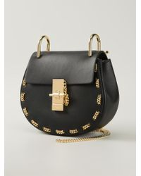 Chloé 'Drew' Shoulder Bag With Chain Detail - Lyst