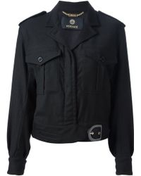 Versace Fitted Jacket - Lyst