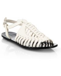 Proenza Schouler Woven Leather Sandals - Lyst