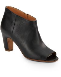 Maison Martin Margiela Leather Peep-toe Booties - Lyst