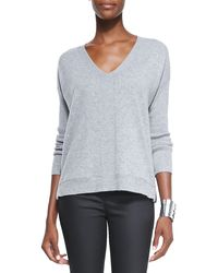 Eileen Fisher Vneck Cashmere Wedge Top - Lyst