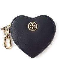Tory Burch Heart Coin Case Key Fob - Lyst