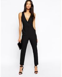 Asos Jumpsuit With Chic Wrap - Lyst