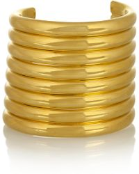 Vickisarge - Burma Gold-Plated Arm Cuff - Lyst