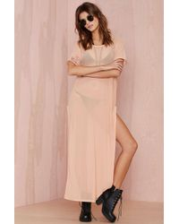 Nasty Gal Minimale Animale The Premonition Mesh Cover Up - Nude - Lyst