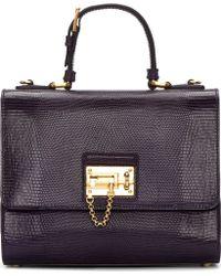 Dolce & Gabbana Purple Iguana Skin Monica Bag - Lyst