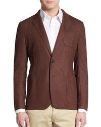 Armani Check Virgin Wool-Sportcoat - Lyst