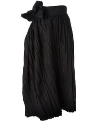 Bottega Veneta Pleated Voluminous Wrap Skirt - Lyst