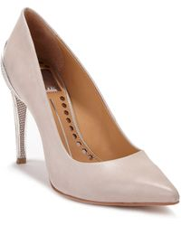 Dolce Vita Karisse Leather Embossedheel Pumps - Lyst