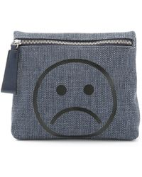 Marc By Marc Jacobs Shape Shifter Unsmiley Cosmetic Case - Navy Denim Multi blue - Lyst