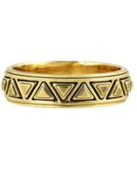 House Of Harlow Triangle Plateau Midi Ring Gold - Lyst