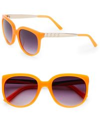 Matthew Williamson 54Mm Stud-Temple Round Sunglasses orange - Lyst
