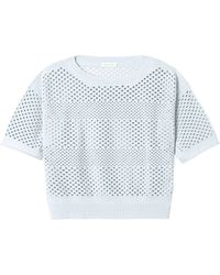 Rebecca Taylor Perforated Pullover - Lyst
