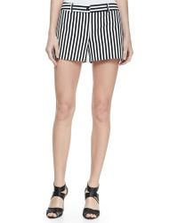 Michael Kors Striped Twill Shorts - Lyst