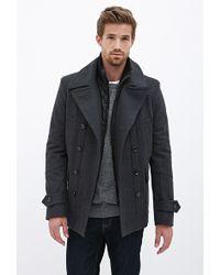 21men Wool-Blend Coat - Lyst