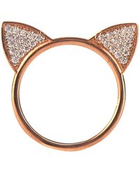 Aamaya By Priyanka - Topaz & Rose Gold-Plated Cat Ears Ring - Lyst