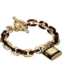 Michael Kors Tortoise Status Link Toggle Bracelet - Lyst