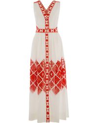 Temperley London Long Amalfi Sleeveless Dress - Lyst