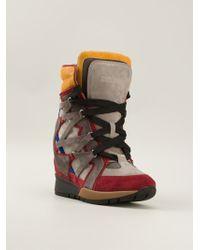 DSquared2 Gray Hi-top Sneakers - Lyst