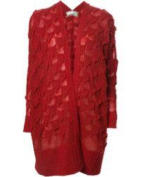 Tsumori Chisato Textured Knit Oversized Cardigan - Lyst