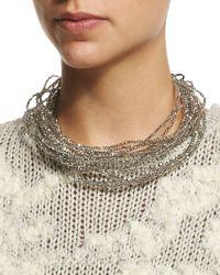 Brunello Cucinelli - Multi-strand Beaded Choker Necklace - Lyst