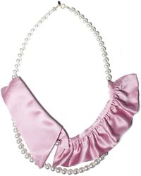 A'n'd Rose Collar Pearl Necklace - Lyst