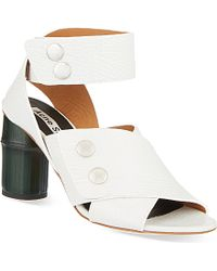 Acne Studios Pica Leather Heeled Sandals - For Women - Lyst