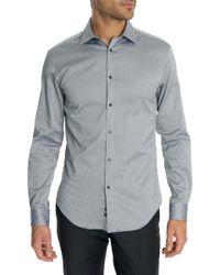 Celio Club | Tcarox Steel Blue Classic Shirt | Lyst