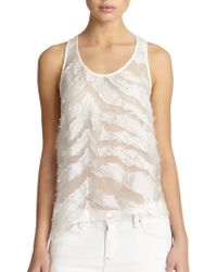 IRO Orso Burnout Tiger-Patterned Sheer Tank - Lyst