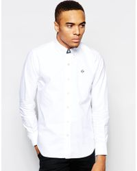 Aape - By Bathing Ape Oxford Shirt With Embroidered Logo - Lyst
