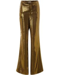 Peter Som Gold Lame Trousers - Lyst