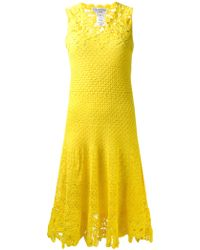 Oscar de la Renta Crochet Dress - Lyst