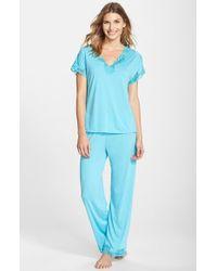 Natori 'Zen Floral' Pajama Set - Lyst